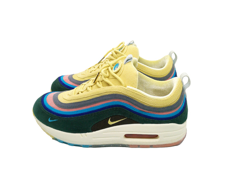 BANGKOK, THAILAND - March 24, 2018: NIKE AIRMAX 971 VF SW Sean Wotherspoon with on white background.
