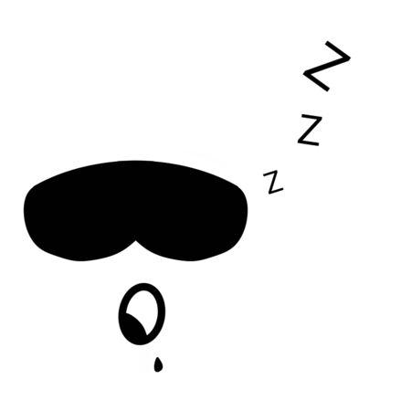 icon eyes sleep mask with saliva