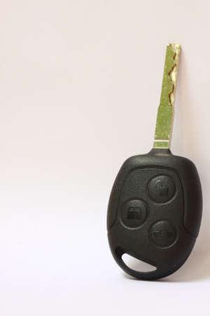 car key isolate on white photo