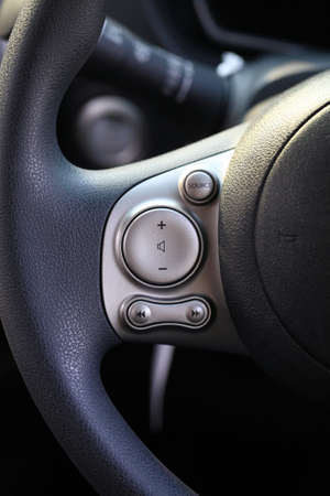 audio control buttons on the steering wheel photo