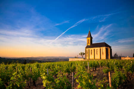 Church of Saint Laurent d Oingt  Beaujolais  Stock Photo