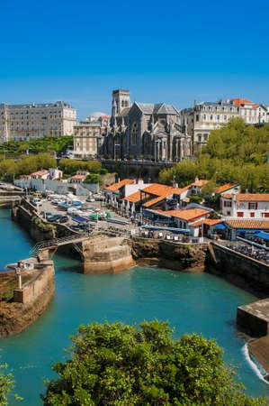 Church and arbor of Biarritz city Standard-Bild
