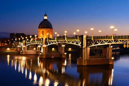 Blue hour at Toulouse bridge