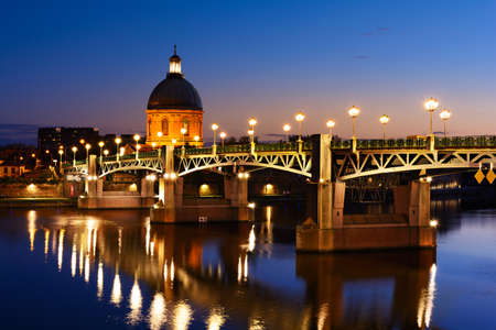 morning blue hour: Blue hour at Toulouse bridge