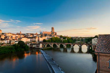 フランスでアルビの都市景観