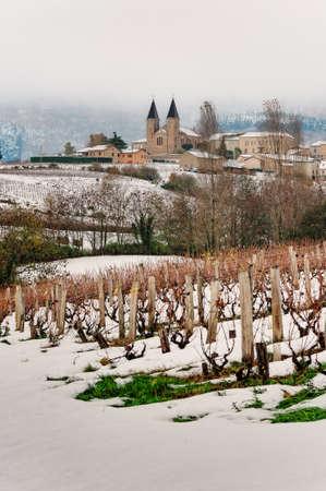Snowed view of Vermont - Beaujolais photo