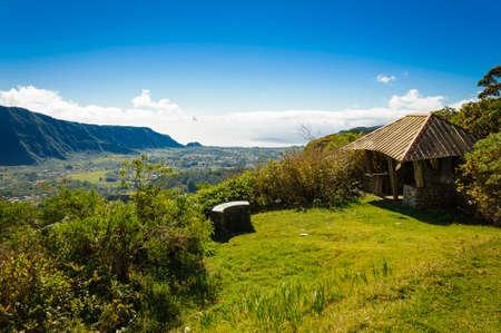 View of Plaine des Palmistes - Reunion Island