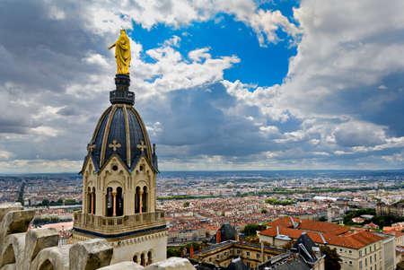 View of Lyon city, Lyon, France Standard-Bild