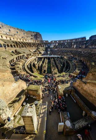 Roma: Inside the Coliseum monument, Roma, Italy Stock Photo