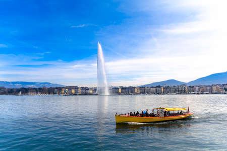 water jet: Water jet in Geneva city, Switzerland