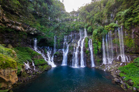 Cascade de Grand Galet, Ile de La Reunion Banque d'images