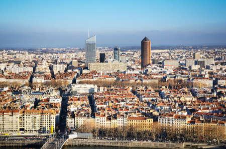 ビジネス タワー、屋上、リヨン、フランス