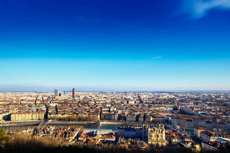 Cityscape of Lyon, France Stock Photo