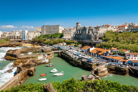 Church and arbor of Biarritz, France