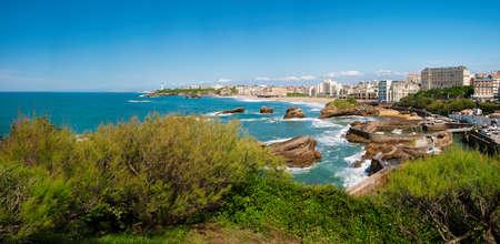 Coast of Biarritz, France Standard-Bild