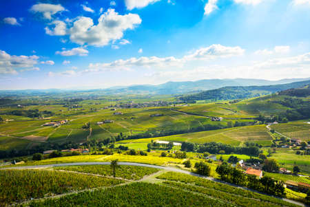 Landscape of Beaujolais, France Stock Photo