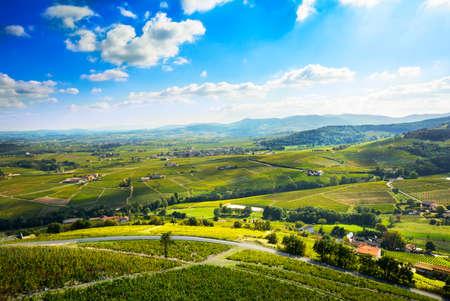 Landscape of Beaujolais, France Standard-Bild