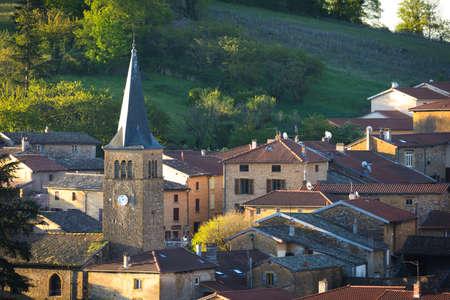 crus: Village of Ville sur Jarnioux, Beaujolais, France
