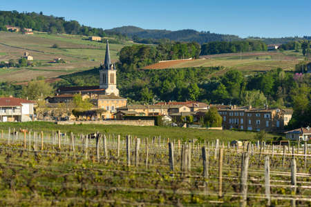 Village of Denice, Beaujolais, France Stock Photo