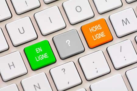 ligne: En Ligne or Hors Ligne choice in French on keyboard