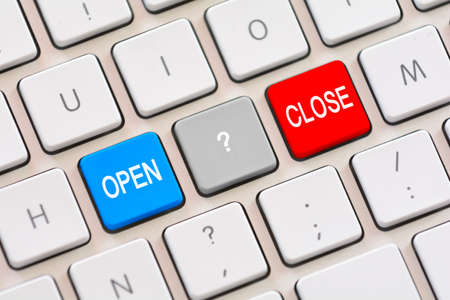 clic: Open or Close choice on keyboard