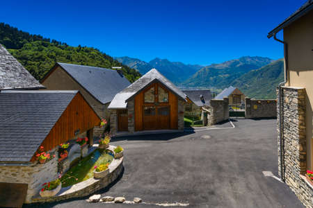 france station: Graihen village close to Saint Lary Soulan, France