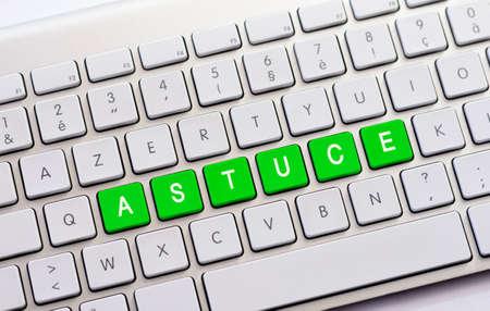 guile: ASTUCE writing on white keyboard
