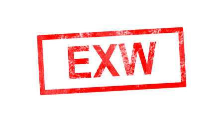EXW in red rectangular stamp