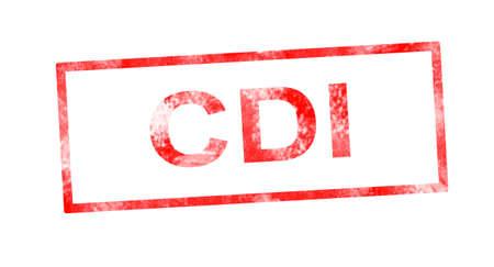 CDI red rectangular stamp