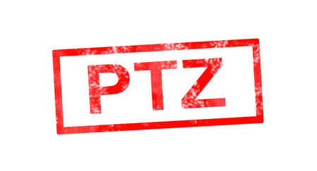 immovable: PTZ in red rectangular stamp