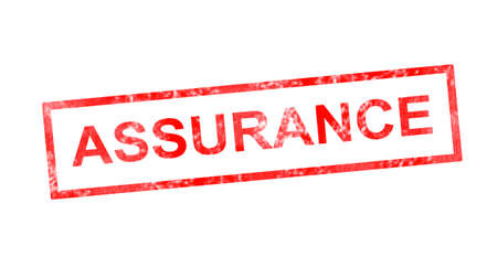 Insurance in French translation in red rectangular stamp
