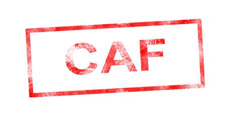 moneyless: CAF in red rectangular stamp