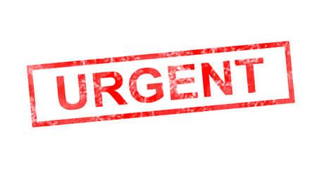Urgent in red rectangular stamp