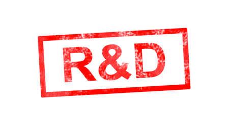 rd: R&D red rectangular stamp