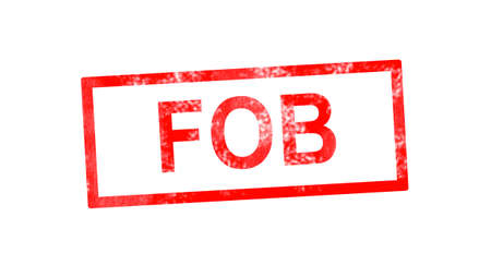 fob: FOB in red rectangular stamp