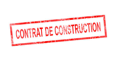 immovable: Construction contract in French translation in red rectangular stamp