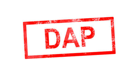 fob: DAP in red rectangular stamp