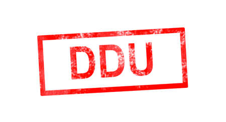 fob: DDU in red rectangular stamp Stock Photo