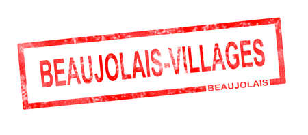 viticulture: Beaujolais and Beaujolais Villages vineyard appellation in a red rectangular stamp