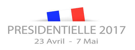 election: Presidential elections 2017 in French with dates and a part hidden french flag