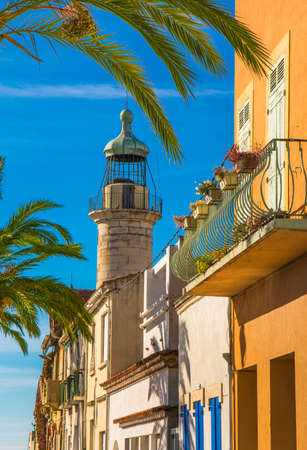 Lighthouse of Grau du Roi city during a synny day in France