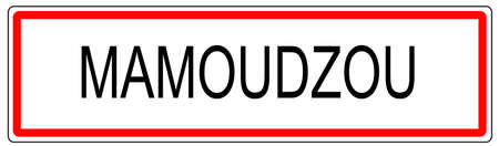 comores: Mamoudzou city traffic sign illustration in France