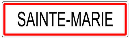 Sainte Marie circulation urbaine signe illustration en France