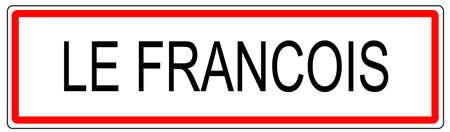 Le signe François trafic ville illustration en France Banque d'images