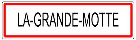 La Grande Motte city traffic sign illustration in France