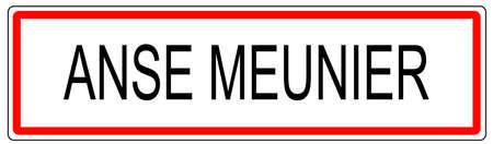 Anse Meunier trafic urbain signe illustration en France