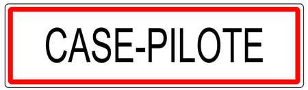 Case signe trafic urbain Pilote illustration en France