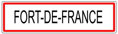 Fort de France trafic urbain signe illustration en France