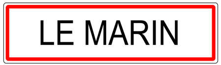 Le Marin trafic urbain signe illustration en France Banque d'images