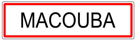 Macouba trafic urbain signe illustration en France